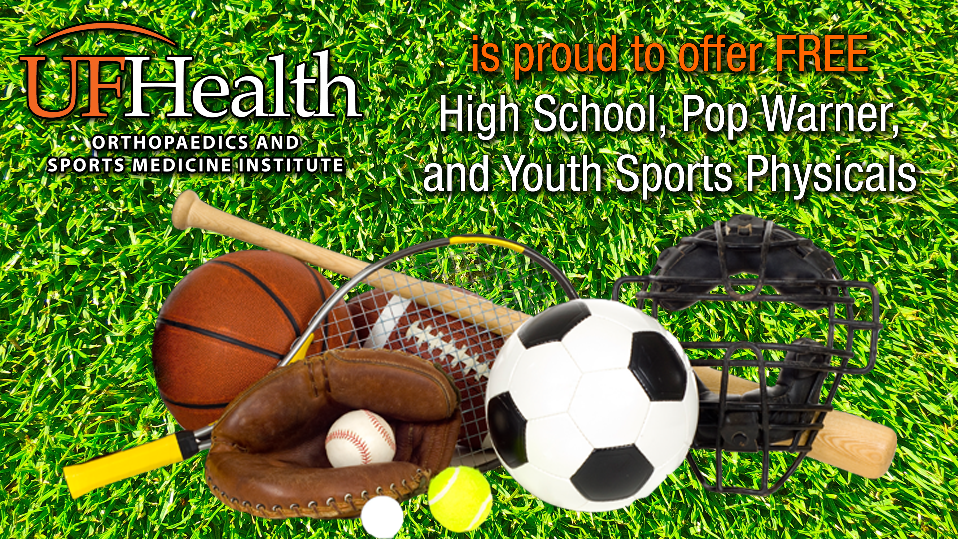 UF Health Orthopaedics to offer Free High School, Pop Warner, and Youth Pre-Participation/Sports Physicals