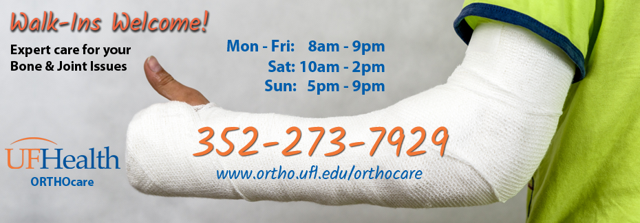 ORTHOcare open weekdays, weeknights, and weekends - because injuries don't make appointments!