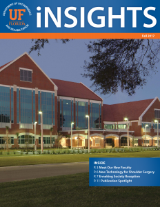 UF Ortho iNSIGHTS 2017 Fall Cover